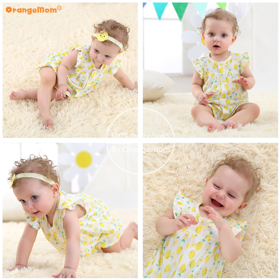 Orangemom Brand Summer Baby Rompers Short Sleeve Baby Girls Clothing Kids Jumpsuits Newborn Baby girl Clothes Roupas vestidos | Happy Baby Mama