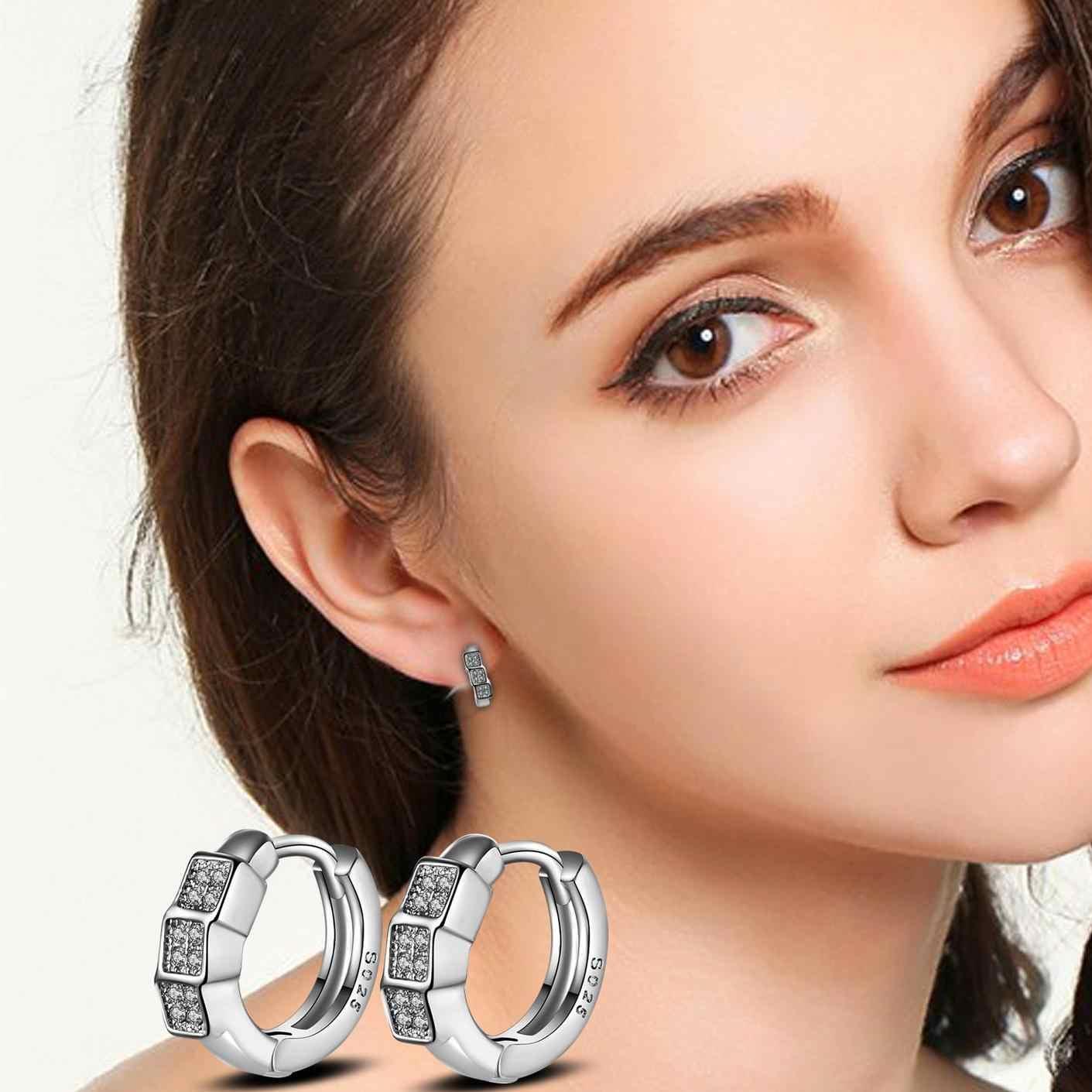 AAA זירקון עגילים לנשים עגילי עגיל 925 כסף סטרלינג תכשיטי חריש Brincos Brinco Oorbellen Pendientes F101