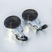 Front Flat Turn Signal Lights For Harley 01-17 Touring Electra Glide Road Glide King Heritage Softail FLSTC