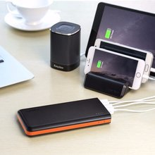 EasyAcc 20000mah Power Bank 4 USB PowerBank Portable Charger External Battery Powerbank For iPhone 7 6 5 4 X 8 For Xiaomi Mi