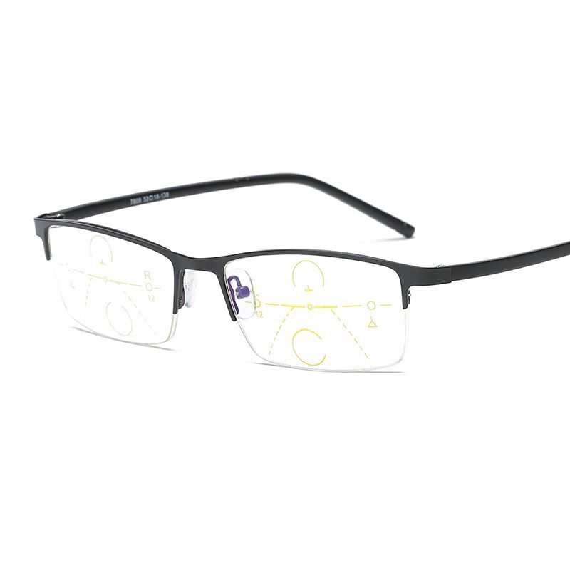 Ultra light half frame smart far with near use reading glasses smart ...
