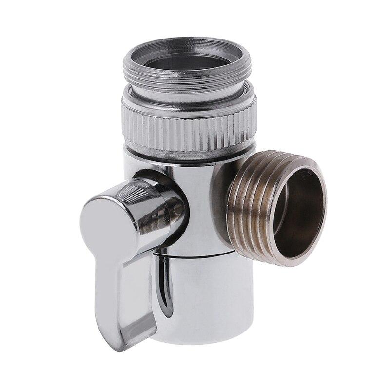 Bathroom Kitchen Brass Sink Valve Diverter Faucet Splitter To Hose Adapter M22 X M24