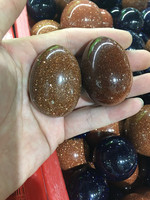 30 40mm two natural red sand stone egg drop shaped eggs to play with pieces of bulk sale of household decorations