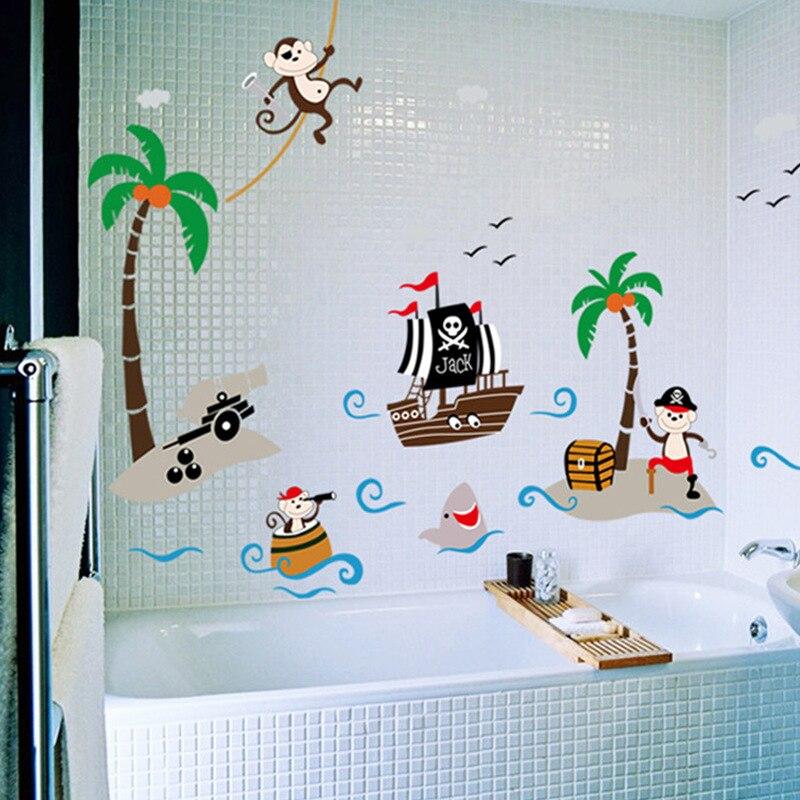 Corsair Cheeky Monkey Coconut Tree Wall Stickers Kids