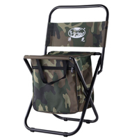 Outdoor Camping Folding Beach Chair Picnic BBQ Stool Seat Travel Chairs Fishing Chair with Storage Bag Army Green