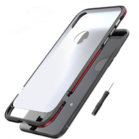 Luxury Metal Bumper For Apple IPhone X Case Ultra Thin Back Cover For IPhone X Case
