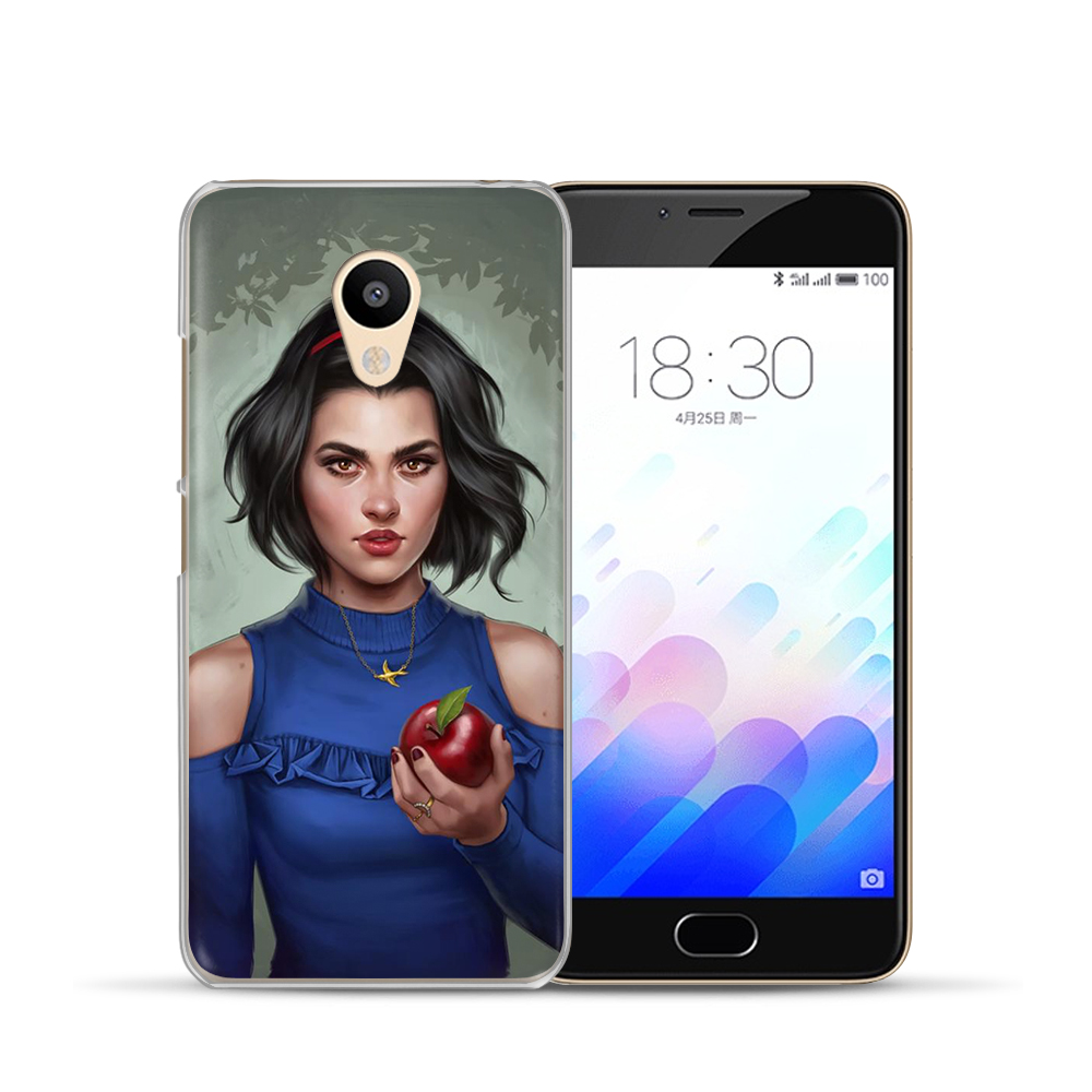 Fashion Princess Cinderella Aurora Ariel Snow White Phone Case For Meizu M6 Note M5S 5C M3s 3 M5 Note Pro6 U10 U20 16th Coque in Fitted Cases from Cellphones Telecommunications