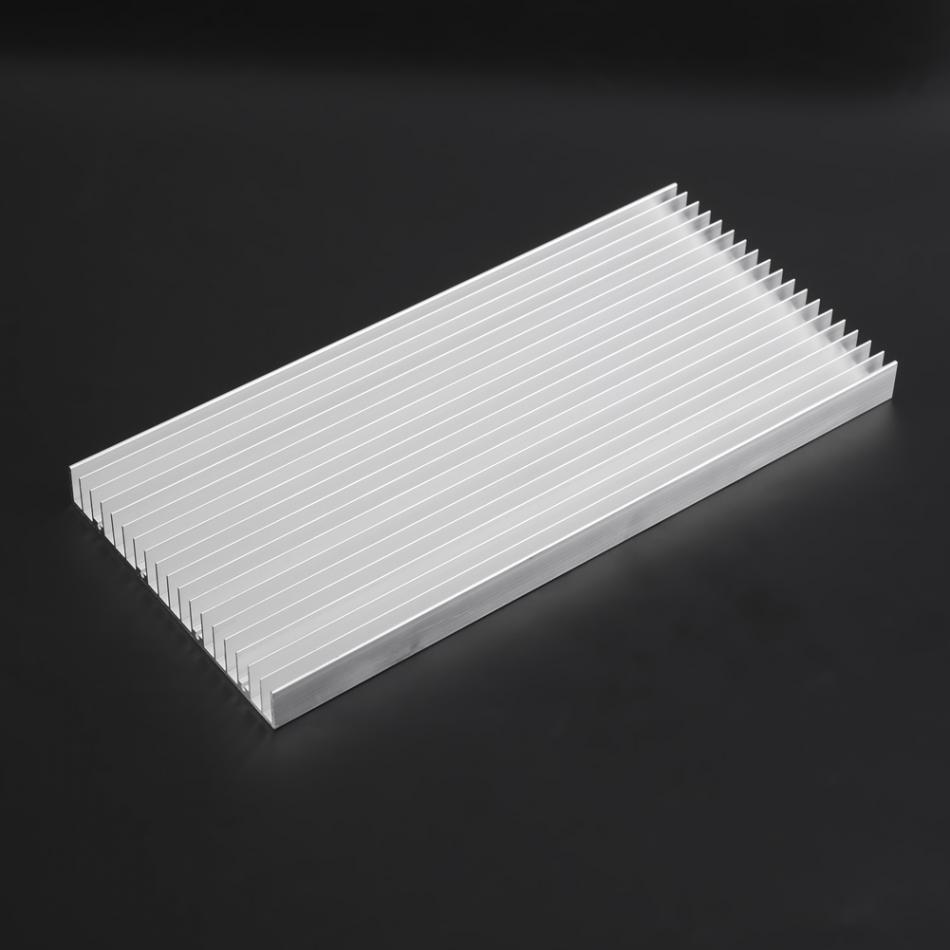 WALFRONT 1pcs Aluminum LED Heat Sink Extruded Electronic Radiator Parts DIY Power Transistor Cooler High Power Home Cooling Tool high power pure copper heatsink 150x80x20mm skiving fin heat sink radiator for electronic chip led cooling cooler