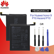Hua Wei Original Phone Battery HB386280ECW 3100mAh For Huawei honor 9 Ascend P10 High Quality Batteries Retail Package +Tools hua wei original battery hb386280ecw for huawei ascend p10 honor 9 mobile phone batteria li ion 3200mah tools