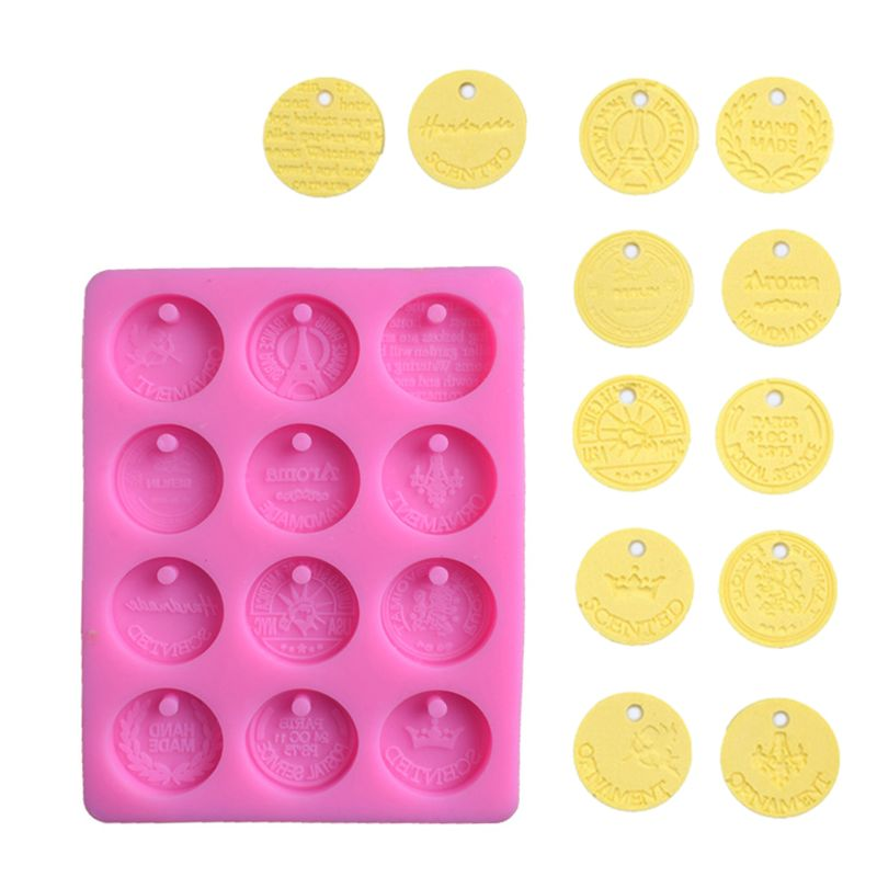 Travel Commemorative Coin Pendant Silicone Mold DIY Resin Jewelry Baking Tools