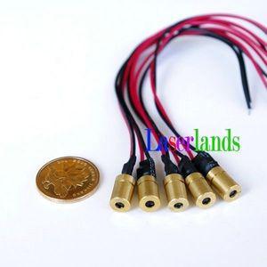 Лазерный диодный модуль с красной точкой, 10 шт./упак. 0813 мм mini 650nm 3,2 мВт 5 мВт 3 В постоянного тока