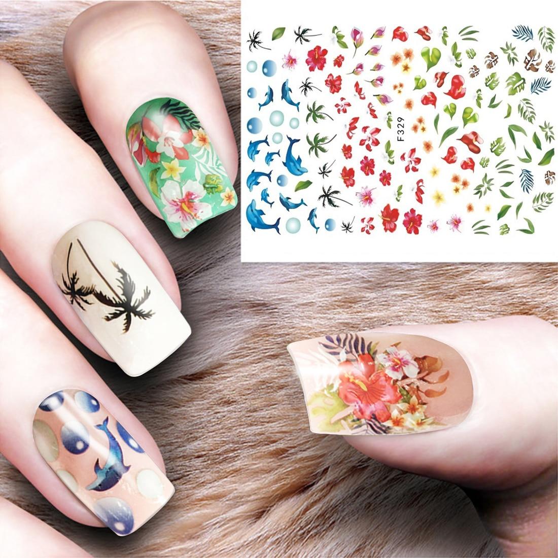 Hot 3d Flower Nail Art Stickers Pretty Cherry Blossom Diy Adesivo De