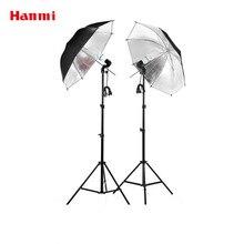Frete Grátis!!! Equipamento fotográfico Roupas Fotografia Shoot Conjunto 2 m Luz Estande + Refletor Guarda-chuva + Adaptador de Tomada