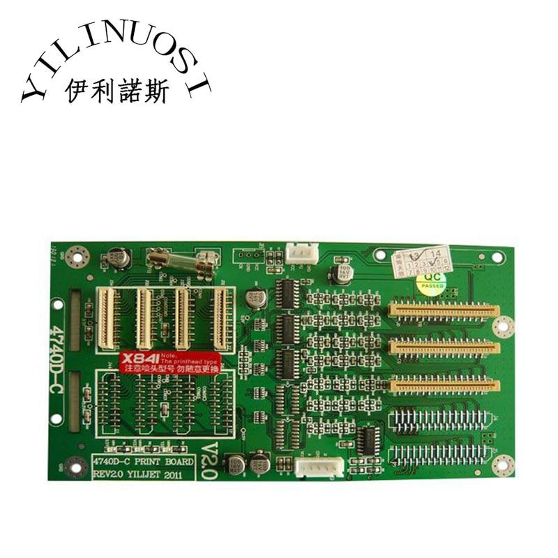 Xenons X3A-7407ASE Eco-solvent Printer 4740D-C (X841) Printhead Board xenons nes 100 48 power supply x8126 eco solvent printer