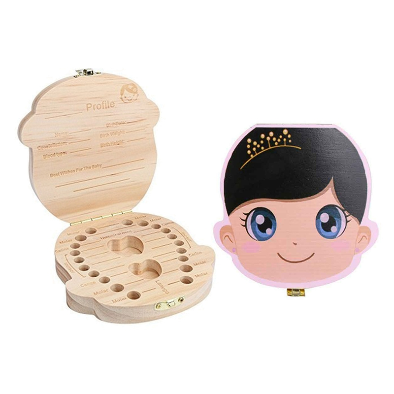 Baby Tooth Box Kids Tooth Box Organizer For Baby Save Milk Teeth Wood Storage Box Cajita Dientes Collection Container Fairy Box