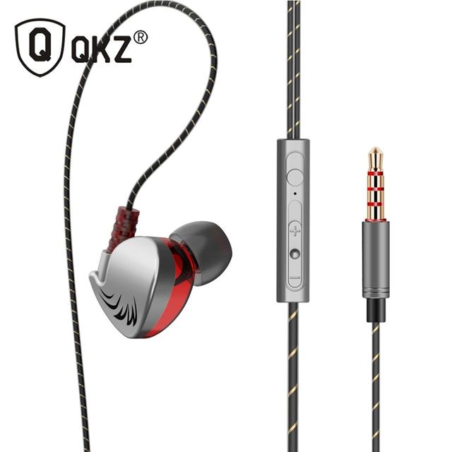 100% オリジナル QKZ CK7 イヤホンで、耳の制御スピーカー有線 3.5 ミリメートルヘッドセットとマイク 1.2 メートルインイヤースポーツイヤホン