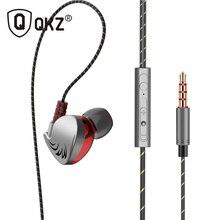 QKZ auriculares internos con control de altavoz, audífonos 100% originales QKZ CK7 con cable de 3,5mm y micrófono de 1,2 m, Auriculares deportivos internos