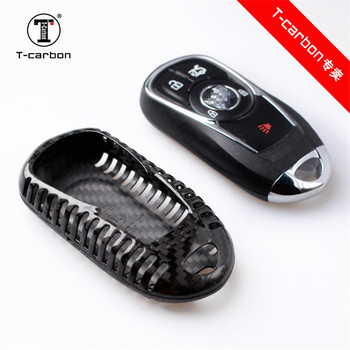 Real Carbon Fiber Protection Key Case Cover for OPEL Astra Buick ENCORE ENVISION NEW LACROSSE Rings Protect Shell Car Styling