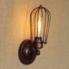 цена на Rustic Retro Vintage Wall Light Lamp LED Style Loft Industrial Wall Lights Fixtures Edison Sconce Appliques Pared Murale