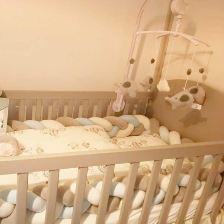 Trenza Cuna bebé Parachoques en la Cuna Tour De Lit Bebe TRESS recién nacido cama De bebé nudo De parachoques/Protector Warkocz Do Lozeczk