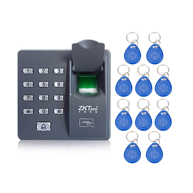 Digital electric RFID reader finger scanner code system biometric recognition fingerprint access control system X6+10pcs keyfobs fs28 biometric fingerprint access control machine electric reader scanner sensor code system for door lock