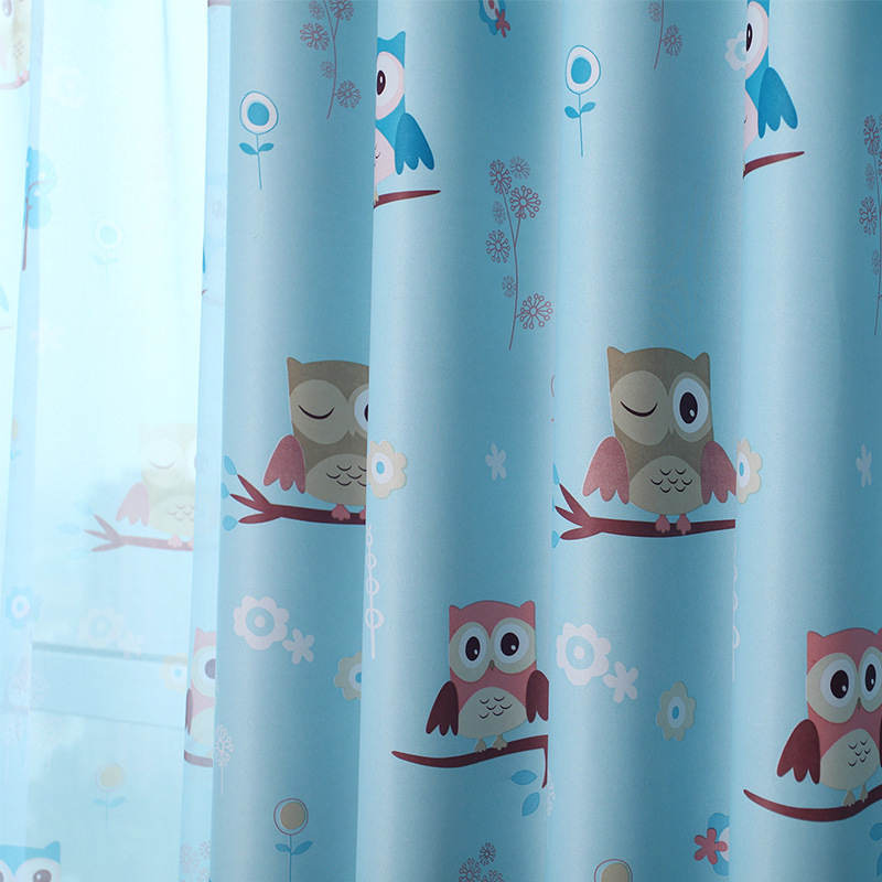 Lovely Children Curtains For Boys Room Girl Bedroom Window Tulle Owl  Printed Sheer Custom Made  In Curtains From Home U0026 Garden On Aliexpress.com  | Alibaba ...