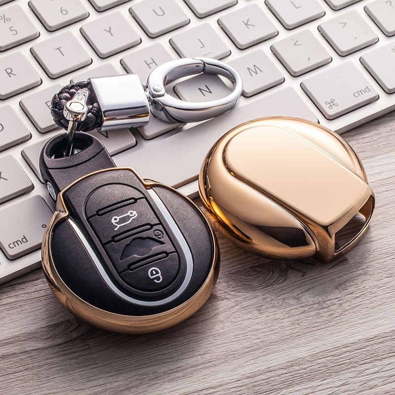 TPU araba anahtarı durumda oto anahtar koruma kapağı BMW Mini Cooper için F54 F55 F56 araç tutucu kabuk renkli araba şekillendirici aksesuarları