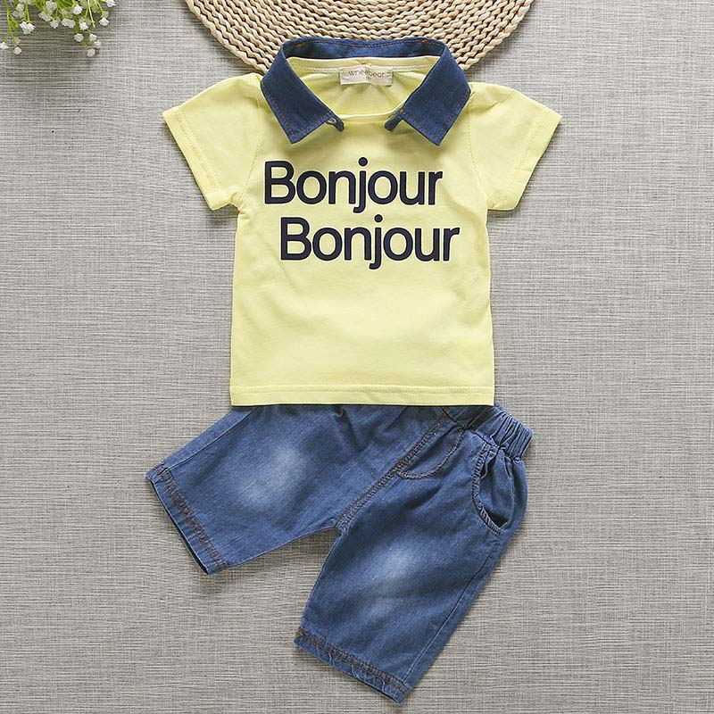 Bibicola/летний комплект одежды для маленьких мальчиков короткие костюмы Топы Корректирующие + Шорты наряды детская одежда для мальчиков детская одежда для маленьких мальчиков