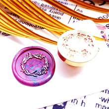 Оливковая ветка, венок, уплотнительные восковые штампы, ретро деревянные ручки, восковая печать, штамп, декоративный цветок, восковые уплотнения, штампы для скрапбукинга