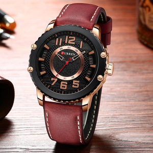 Image 5 - New Leather Watches Mens Top Brand CURREN Fashion Mens Clock Causal Business Quartz Wristwatch Gift Relogio Masculino