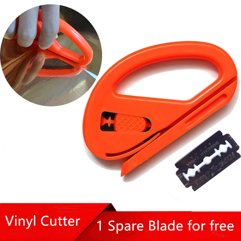 10*5.8cm Carbon Fiber Cutting Application Recycling Blade Knife Tint Tool Safety Snitty Vinyl Cutter Car Wrap Cutting Tool