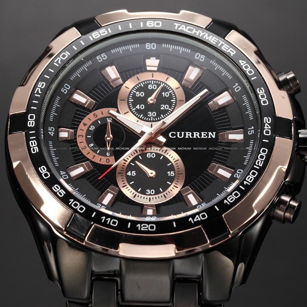 2016 New Curren Top Luxury Brand Men Sports Watches Men's Quartz Hours Casual Clock Man Full Steel Army Military Wrist Watch new curren men wrist watches top brand