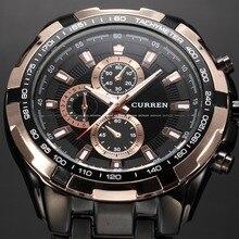 2016 Nouveau Curren Top De Luxe de Marque Hommes Sport Montres Hommes Quartz Heures Horloge Casual Homme Plein Acier Armée Militaire Poignet montre