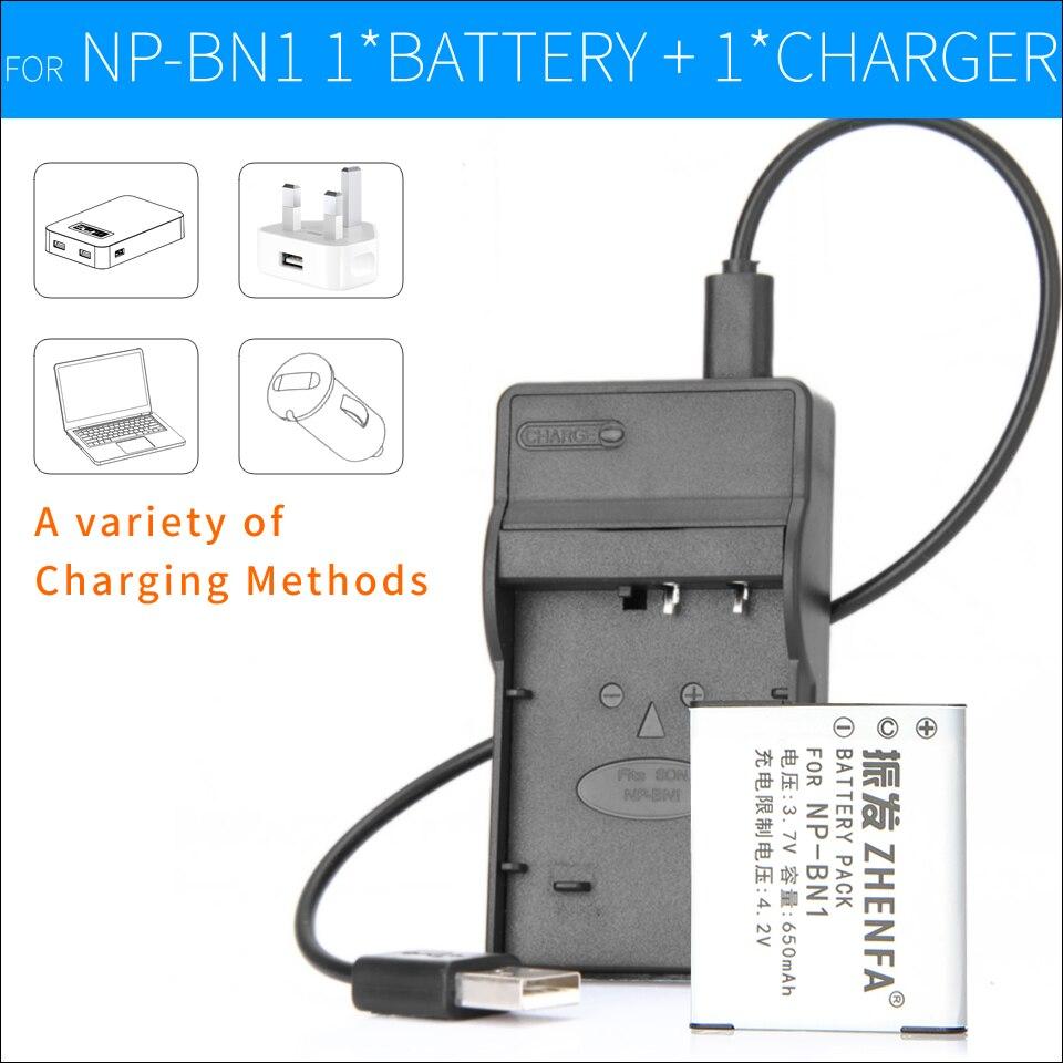 1 Pcs NP-BN1 Li-ion Caméra Batterie + NP-BN1 Chargeur Pour Sony Cyber-shot DSC W310 W360 W380 W390 W690 T110 WX7 TX66