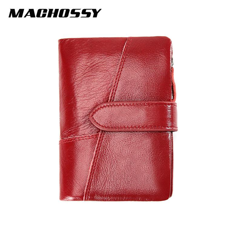 Men's Genuine Leather Women Wallet Purse Men Coin Wallet Female Small Portomonee RFID Walets Lady Purse For Men Money Clip