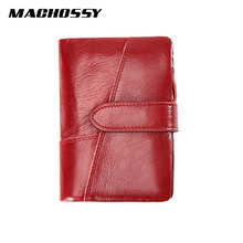 Mens Genuine Leather Women Wallet Purse Men Coin Female Small Portomonee RFID Walets Lady For Money Clip