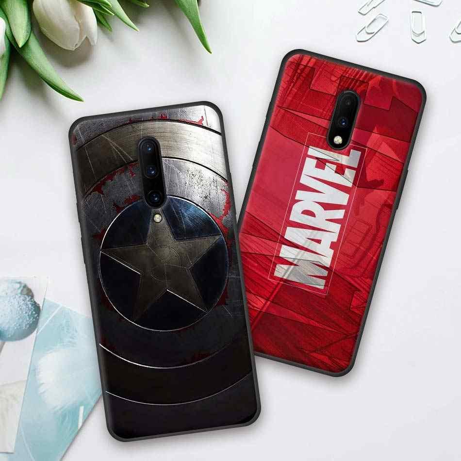 Marvel Superhéroes The Avengers funda de silicona para teléfono Oneplus 7 7 Pro 6 6T 5T carcasa blanda con tapa para Oneplus 7 7Pro funda negra