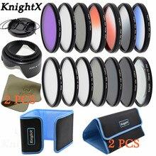 KnightX 14 filter FLD UV CPL ND lens cap for Sony Canon Nikon eos 550d t6 D5300 d90 t5 100d d750 49 52 55 58MM 62MM 67MM 72 77MM