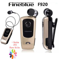 FineBlue F920 Wireless Bluetooth Headset Vibration Earphone Bluetooth 4 0 Wearing Clip Sports Running Earphone For