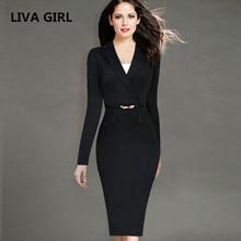 Female Elegant Black Business Dress Suits Blazer Women Formal Uniform Wear To Work Office Bodycon Pencil Dresses Plus size K69