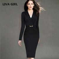 Female Elegant Black Business Dress Suits Blazer Women Formal Uniform Wear To Work Office Bodycon Pencil
