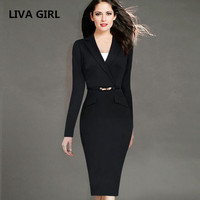 Female Elegant Black Business Dress Suits Blazer Women Formal Uniform Wear To Work Office Bodycon Pencil