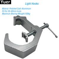 Os ganchos claros materiais de alumínio cabem para 30 60mm que carregam a carga 150kg par que movem a cabeça do clube da luz da fase iluminam acessórios da luz do disco|Efeito de Iluminação de palco| |  -