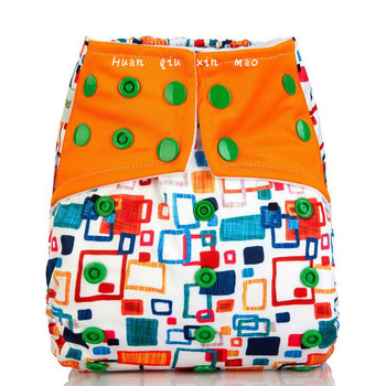 1PC Reusable Waterproof AIO All In One Cloth Diaper Baby Nappy with 1pcs layers Microfiber Inserts  diaper cover