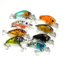 Lots of 8pcs 45mm 4g Hard Lures Crank Baits Hooks Fishing Tackles Mixed Colors