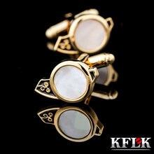 Kflk ювелирные изделия 2020 запонки для рубашек мужчин брендовые