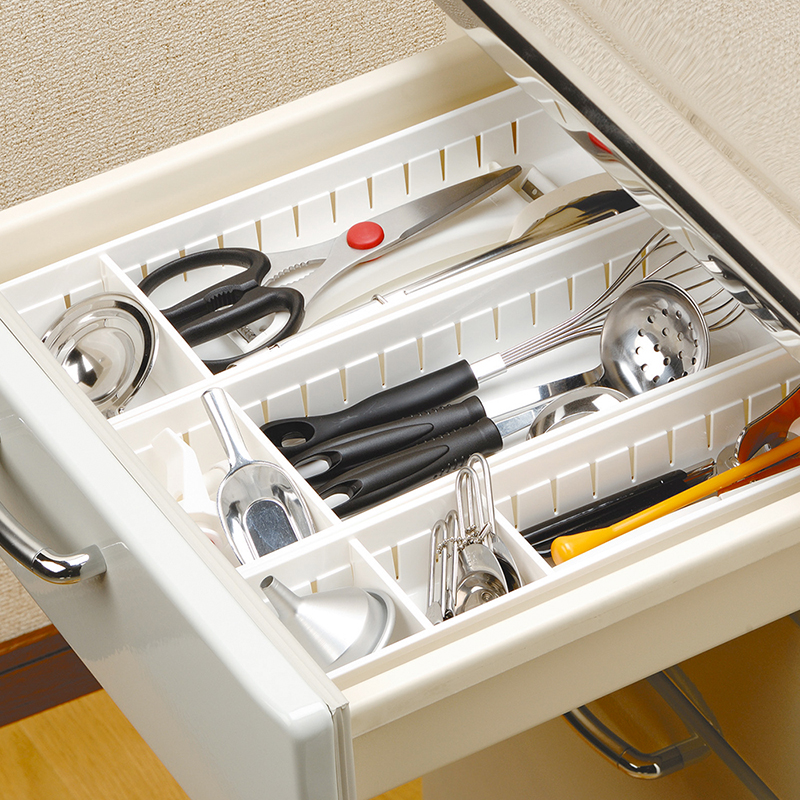 Keuken Lade Organizer : Plastic Storage Dividers for Kitchen Drawers