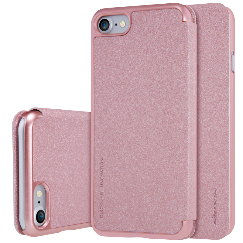 NILLKIN case for iphone 7 4.7 inch 360 degree protection Sparkle PU leather flip cover with Retail package