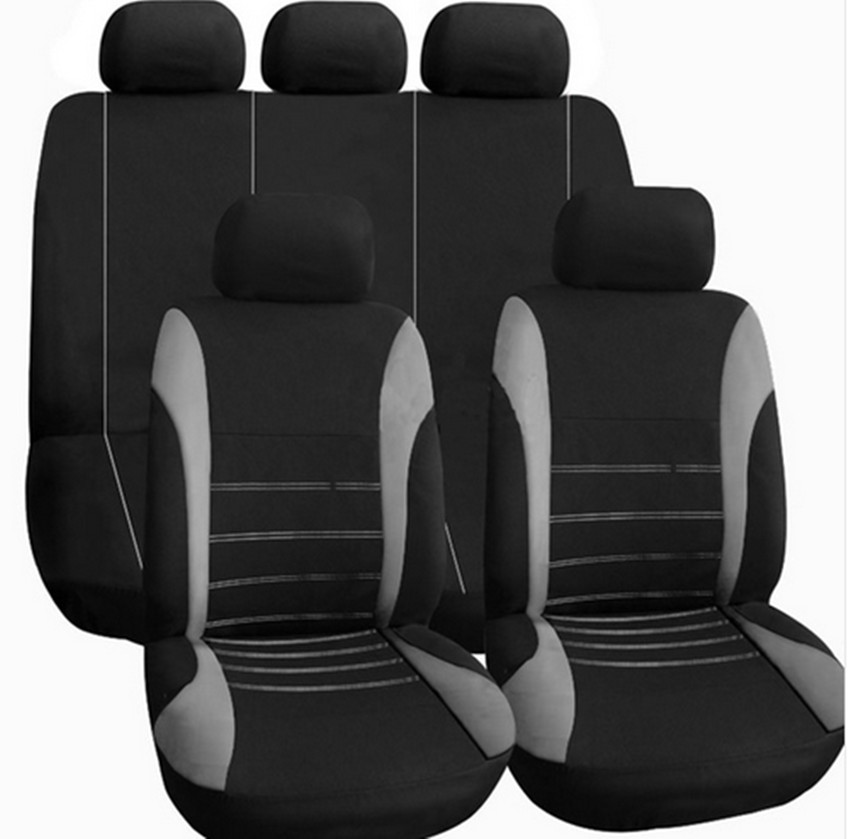2017 Free shipping Car Seat Sovers For Kia Rio Sportage Sorento 4/6-6/4 Sets 3mm Polyester Universal Seat Cover 9PCS
