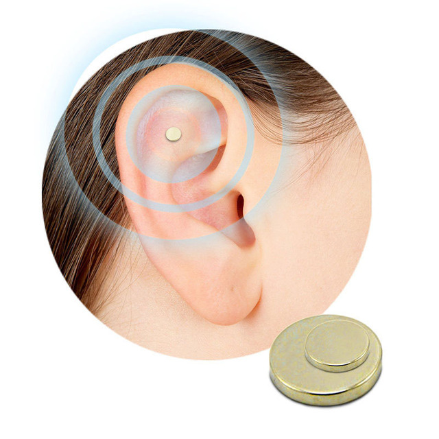 2PCS Magnet Auricular Quit Smoking Zerosmoke ACUPRESSURE Patch Not Cigarettes Health Therapy